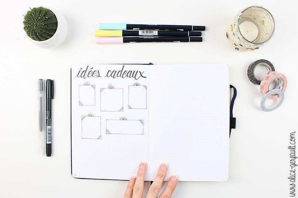 Bullet Journal 2020, Collection Idées Cadeaux, DIY par Alice Gerfault