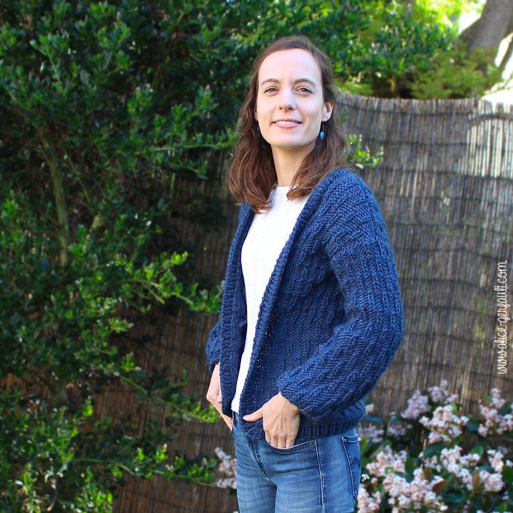 Comment j'ai tricoté le Emei Cardigan de We Are Knitters, tricot par Alice Gerfault