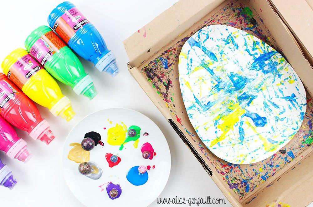 Tuto Oeuf de Pâques peint avec des billes, DIY par Alice Gerfault