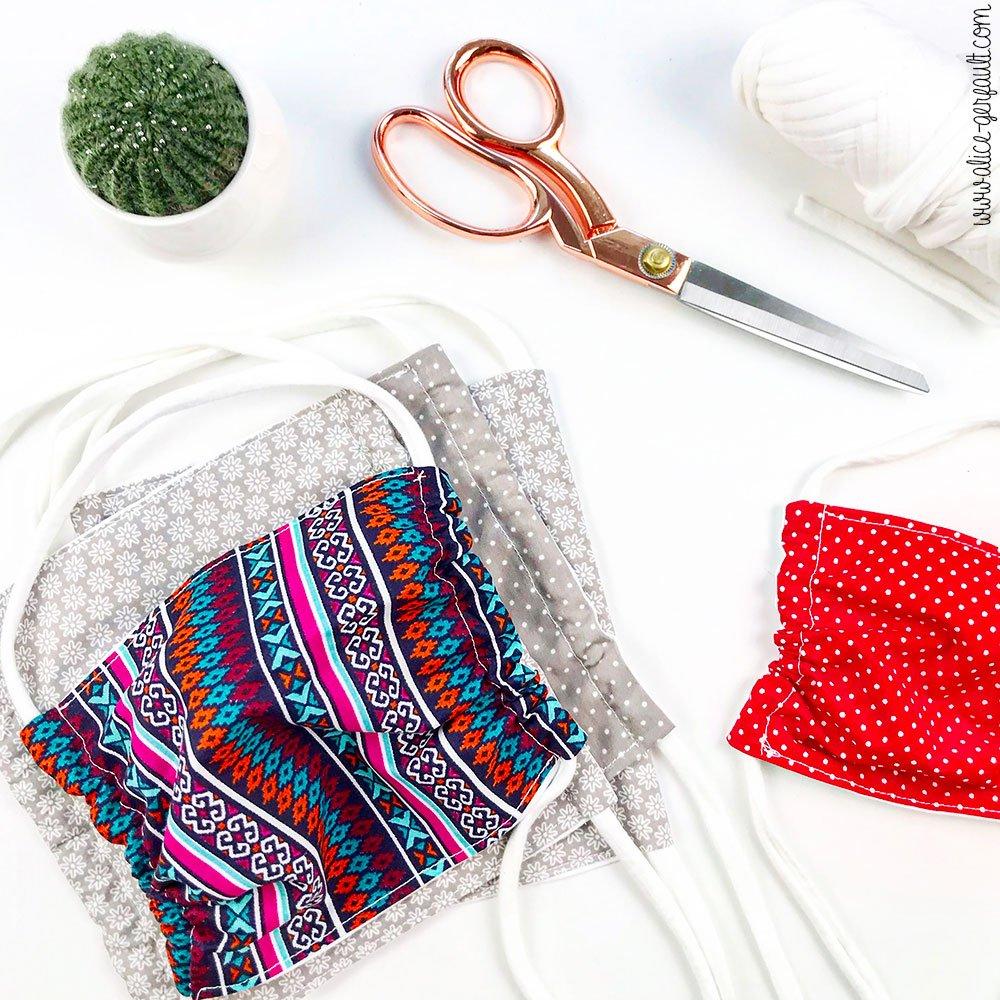Journal Créatif Episode 10, Couture de masques barrières, DIY par Alice Gerfault