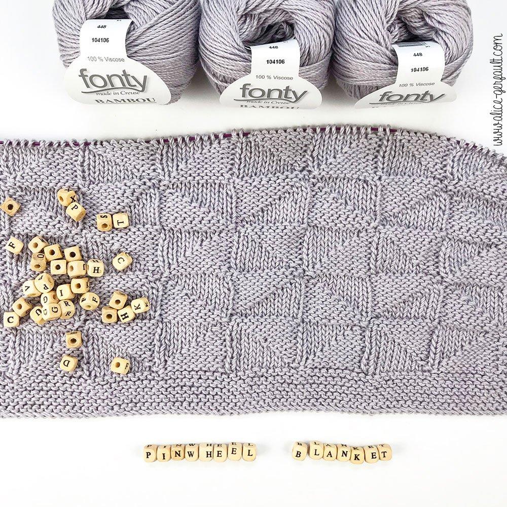 Journal Créatif Episode 12, Couverture Bébé Pinwheel, tricot par Alice Gerfault