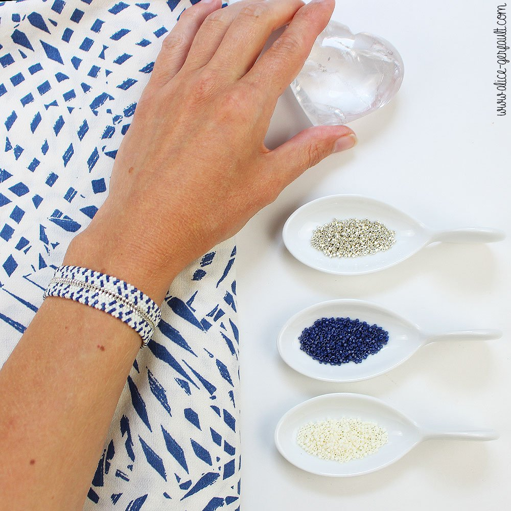 Journal Créatif Episode 14, Bracelet Mississippi, DIY en perles par Alice Gerfault