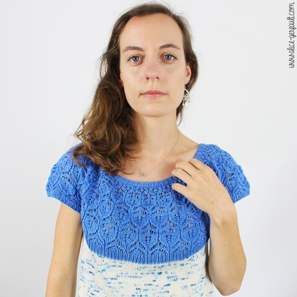 Journal Créatif Episode 12, Top Kentia, tricot par Alice Gerfault
