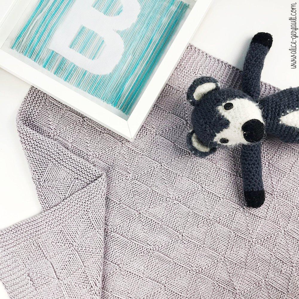 Journal Créatif Episode 13, Couverture Bébé Pinwheel, tricot par Alice Gerfault