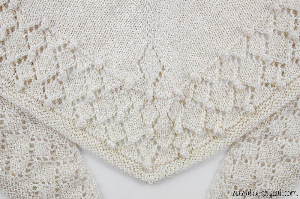 Châle La Montagne aux Lamas, Patron tricot par Alice Gerfault