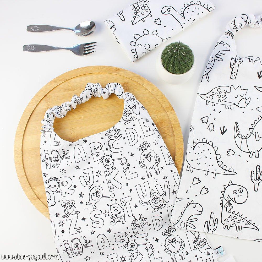 Journal Créatif Episode 14, Serviettes élastiquées pour enfant, Couture par Alice Gerfault