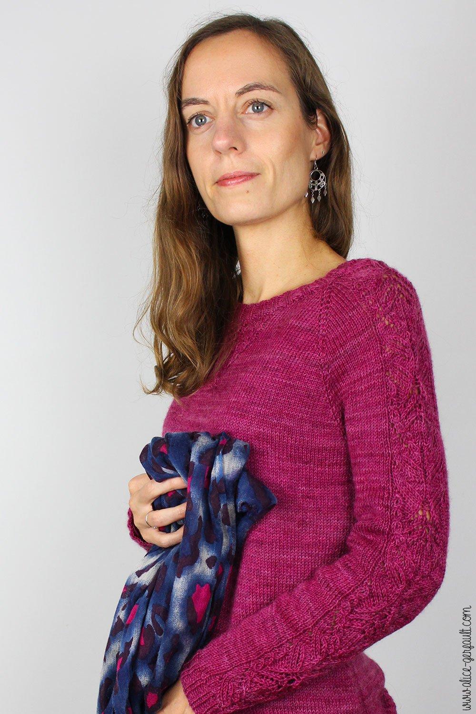 Pull Lady Downtown de Triple L de Mag, tricot par Alice Gerfault