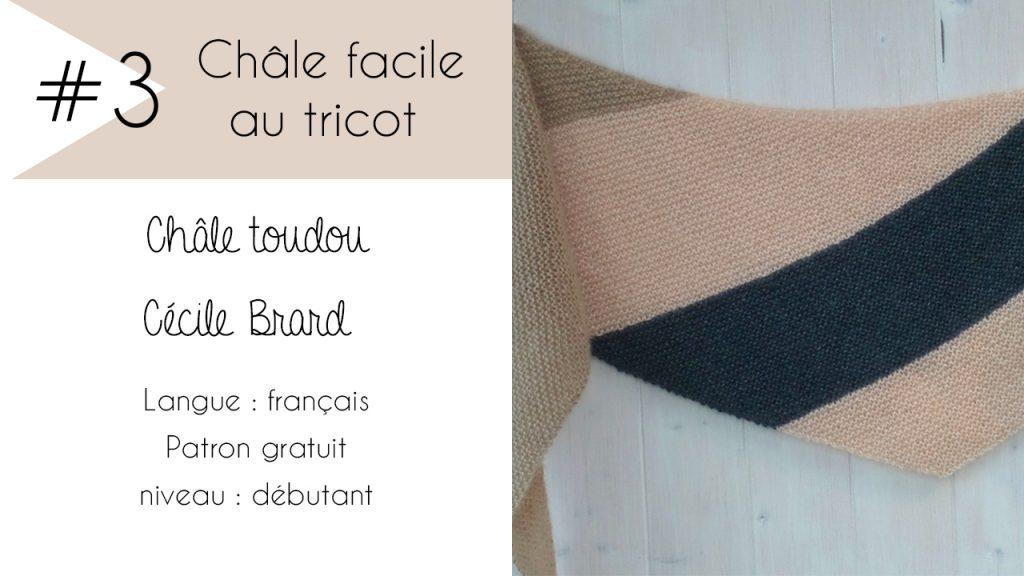 Sélection de châles faciles à tricoter : Châle Toudou de Cécile Brard