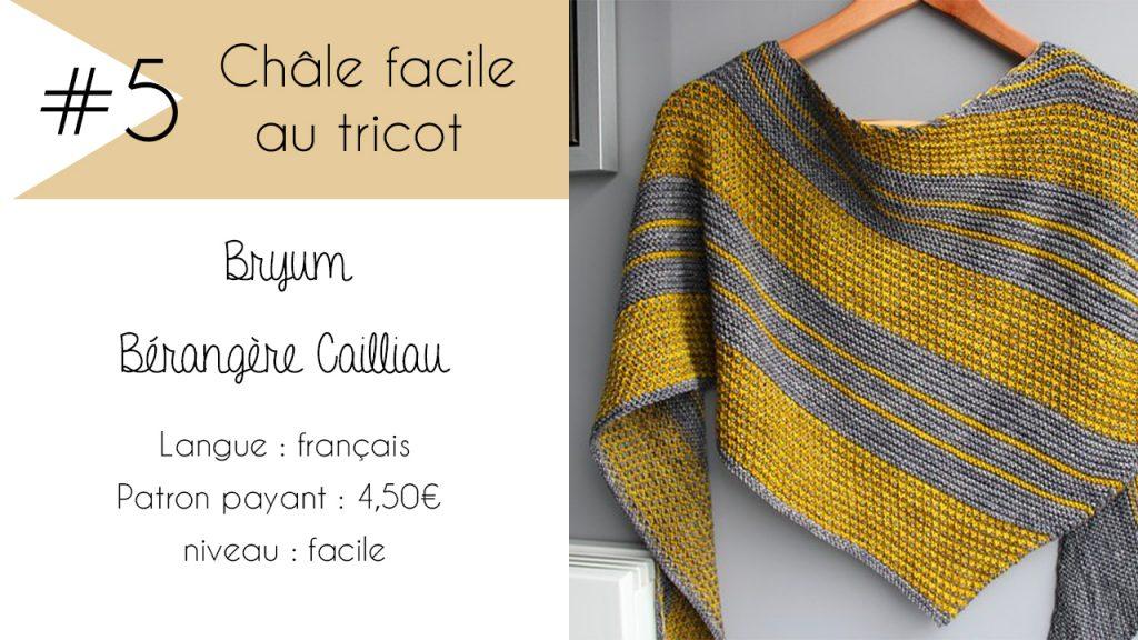 Sélection de châles faciles à tricoter : Bryum de Bérangère Cailliau