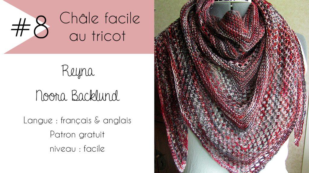 Sélection de châles faciles à tricoter : Reyna de Noora Backlund
