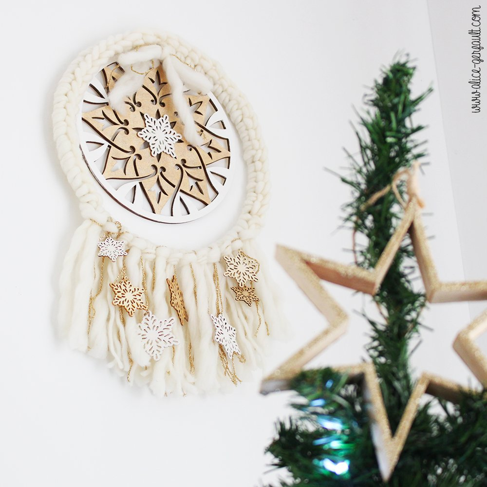 Tuto Panier de sapin, focus couronne de Noël boho, Couture par Alice Gerfault