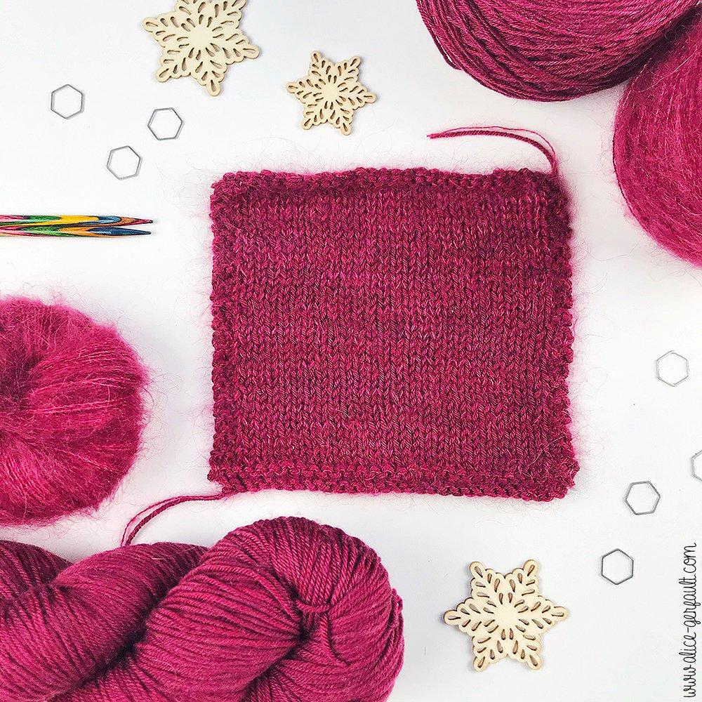 L'échantillon de mon pull Trescao - Je tricote mon premier pull, Alice Gerfault