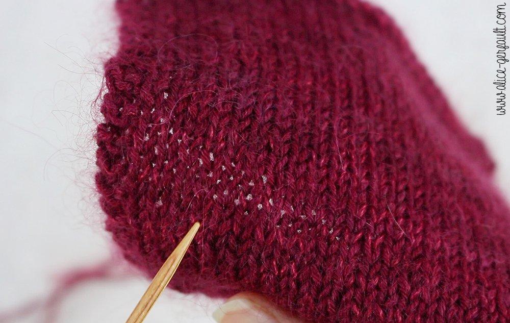 Compter les mailles de son échantillon - Je tricote mon premier pull avec Alice Gerfault
