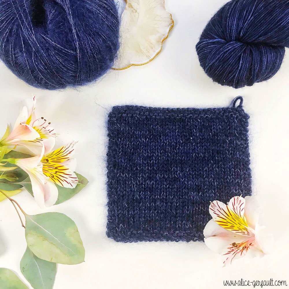Echantillon du Gilet Rendez-Vous d'Atelier Emilie tricoté par Alice Gerfault