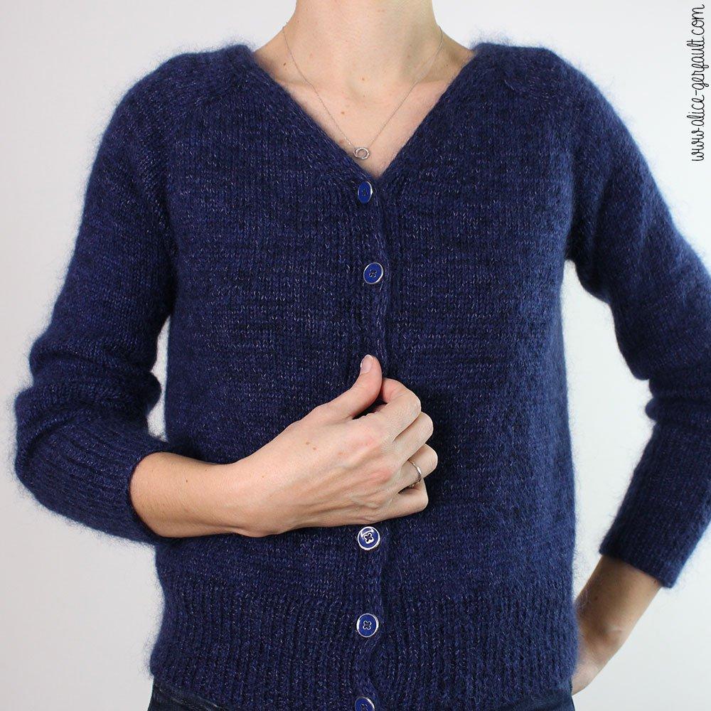 Gilet Rendez-Vous d'Atelier Emilie tricoté par Alice Gerfault